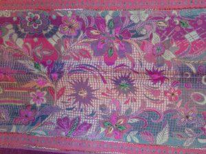 multi coloured emroboirdered shawl