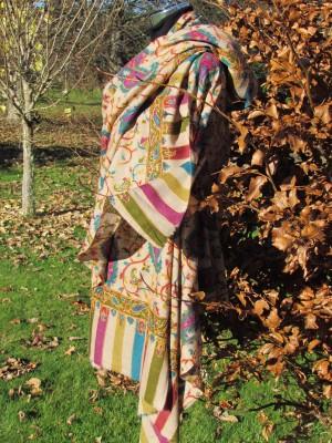 Colourful large shawl