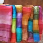 Silk scarves and pashminas