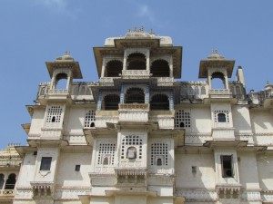 Udaipur City Palace outside